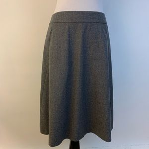 Banana Republic Wool Blend A Line Skirt Gray Lined